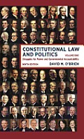 Constitutional Law and Politics, Volume 1 (9TH 14 Edition)