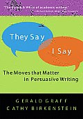 They Say/I Say: A Brief Guide to Argumentative Writing Cover