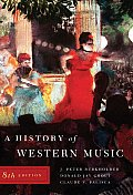 A History of Western Music [With Access Code] Cover