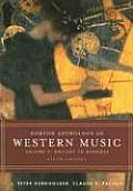 Norton Anthology of Western Music Volume 1 Ancient to Baroque 5th edition