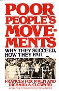 Poor People's Movements: Why They Succeed, How They Fail Cover