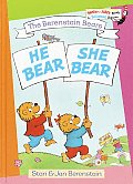 He Bear, She Bear, (Bright &amp; Early Book, 20) Cover