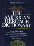 American Heritage Dictionary 2nd Edition College