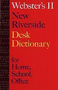 Websters II New Riverside Desk Dictionary
