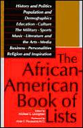 African American Book Of Lists