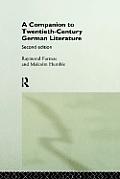 Companion to Twentieth-Century German Literature