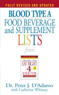 Blood Type a Food, Beverage and Supplemental Lists (Food, Beverage and Supplement)