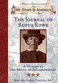 The Journal of Rufus Rowe Cover