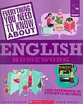 Everything You Need to Know about English Homework: 4th to 6th Grades (Everything You Need to Know about) Cover