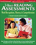 3 Minute Reading Assessments Grades 1 4 Word Recognition Fluency & Comprehension