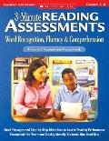 3 Minute Reading Assessments Prehension Word Recognition Fluency & Comprehension