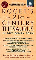 Roget's 21ST Century Thesaurus, Dictionary Form (3RD 06 Edition)