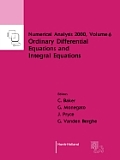 Numerical Analysis 2000; V.6: Ordinary Differential Equations and Integral Equations.