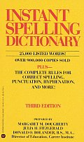 Instant Spelling Dictionary 3rd Edition
