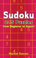 Sudoku: 215 Puzzles from Beginner to Expert