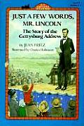 Just a Few Words, Mr. Lincoln (All Aboard Reading) Cover