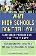 What High Schools Dont Tell You & Other Parents Dont Want You to Know Create a Long Term Plan for Your 7th to 10th Grader for Getting Into the