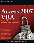 Access 2007 VBA Bible: For Data-Centric Microsoft Office Applications Cover