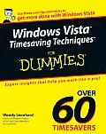 Windows Vista Timesaving Techniques for Dummies (For Dummies)