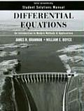 Differential Equations : Introduction To Modern Methods and Applications  - Student Solutions Manual (07 Edition)