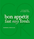 The Bon Appetit Fast Easy Fresh Cookbook Cover