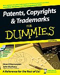 Patents Copyrights & Trademarks for Dummies With CDROM