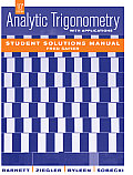 Analytic Trigonometry With Applications, Student Solutions Manual (10TH 09 - Old Edition)