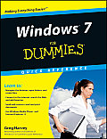 Windows 7 for Dummies Quick Reference Cover