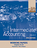 Intermediate Accounting, Working Papers, Volume 2: Ifrs Edition