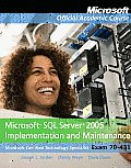 Microsoft SQL Ser. 2005 Implem. - With Lab and CD (09 Edition)