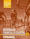 Financial Accounting, Working Papers: Tools for Business Decision Making Cover