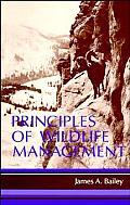 Principles of Wildlife Management