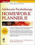 Adolescent Psychotherapy Homework Planner II with CDROM (Practiceplanners Series)