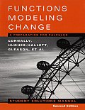 Solutions Functions Modeling Change 2ND Edition