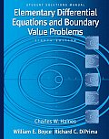 Student Solutions Manual to Accompany Boyce Elementary Differential Equations & Boundary Value Problems