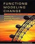 Functions Modeling Change A Preparation for Calculus 2nd Edition