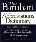 Barnhart Abbreviations Dictionary