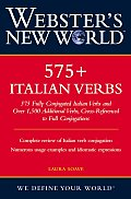Webster's New World 575+ Italian Verbs Cover