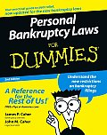 Personal Bankruptcy for Dummies 2ND Edition Cover