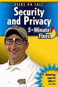 Geeks on Call Security & Privacy 5 Minute Fixes