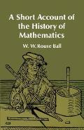 A Short Account of the History of Mathematics Cover