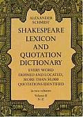 Shakespeare Lexicon and Quotation Dictionary, Vol. 2 Cover
