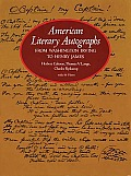 American Literary Autographs From Washington Irving To Henry James