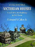 Cut & Assemble Victorian Houses 4 Full Color Buildings in HO Scale