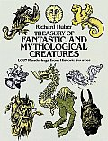 Treasury of Fantastic and Mythological Creatures: 1,087 Renderings from Historic Sources (Dover Pictorial Archives) Cover