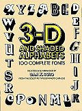 3d & Shaded Alphabets 100 Complete Fonts