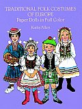 Traditional Folk Costumes of Europe Paper Dolls in Full Color