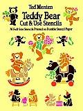 Teddy Bear Cut & Use Stencils 76 Full Size Stencils Printed on Durable Stencil Paper