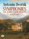 Symphonies Nos 8 & 9 New World in Full Score
