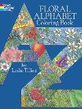 Floral Alphabet Coloring Book